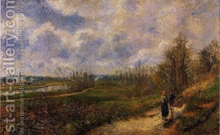 Pathway at Chou Pontoise  1878 by Camille Pissarro - Reproduction Oil Painting