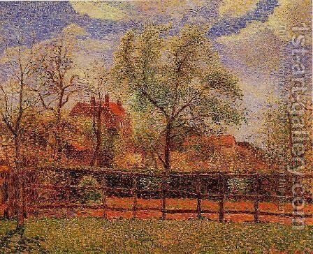 Pear Tress in Bloom Eragny Morning 1886 by Camille Pissarro - Reproduction Oil Painting