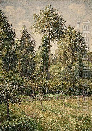 Poplars Eragny 1895 by Camille Pissarro - Reproduction Oil Painting