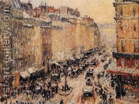 Rue Saint-Lazare  1897 by Camille Pissarro - Reproduction Oil Painting