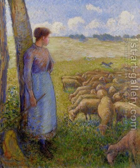 Shepherdesses  1887 by Camille Pissarro - Reproduction Oil Painting