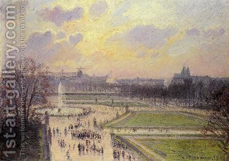 The Bassin des Tuileries  1900 by Camille Pissarro - Reproduction Oil Painting