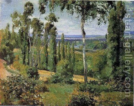 The Cote des Boeurs at lHermitage near Pontoise  1877 by Camille Pissarro - Reproduction Oil Painting