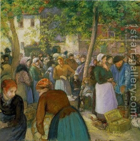 The Quarry Pontoise  1875 by Camille Pissarro - Reproduction Oil Painting