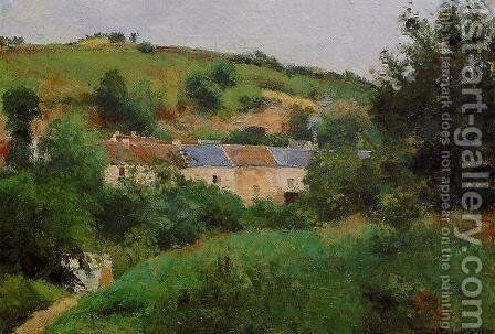 The Village Pathway  1875 by Camille Pissarro - Reproduction Oil Painting