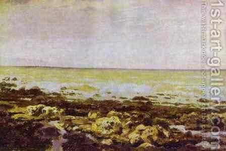 Ebb Tide Normandy 1874 by Vasily Polenov - Reproduction Oil Painting