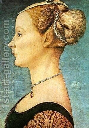 Portrait Of A Girl by Antonio Pollaiolo - Reproduction Oil Painting
