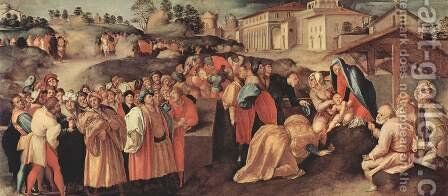 The Adoration of the Magi by (Jacopo Carucci) Pontormo - Reproduction Oil Painting