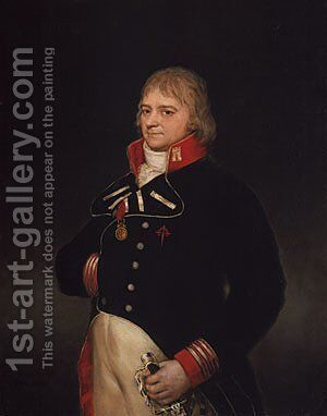 Don Ignacio Garcini y Queralt Brigadier of Engineers 1804 by Goya - Reproduction Oil Painting