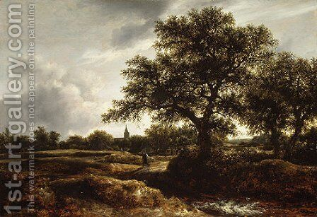 Landscape with a Village in the Distance 1646 by Jan van Goyen - Reproduction Oil Painting