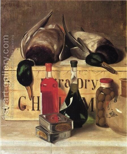 StillLifewithMallardsDateunknown by Alexander Pope - Reproduction Oil Painting