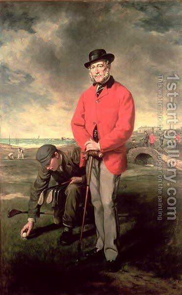 Portrait of John Whyte Melville of Bennochy and Strathkinness Captain of the Club 1823 by Sir Francis Grant - Reproduction Oil Painting