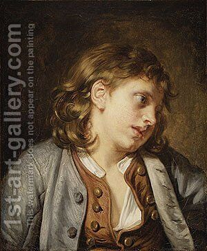 A Young Peasant Boy by Jean Baptiste Greuze - Reproduction Oil Painting