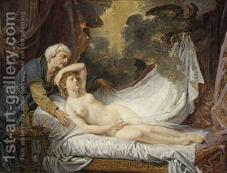 Aegina Visited by Jupiter 1767 by Jean Baptiste Greuze - Reproduction Oil Painting