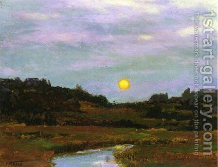 Harvest Moon by Edward Henry Potthast - Reproduction Oil Painting