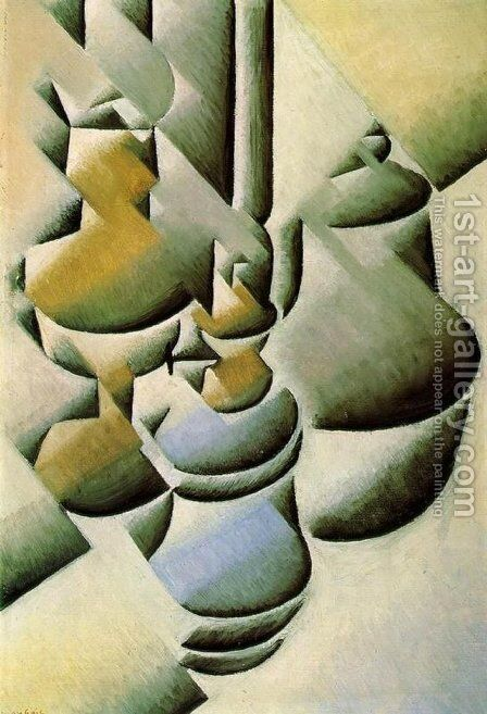 Still Life with Oil Lamps 1911-1912 by Juan Gris - Reproduction Oil Painting