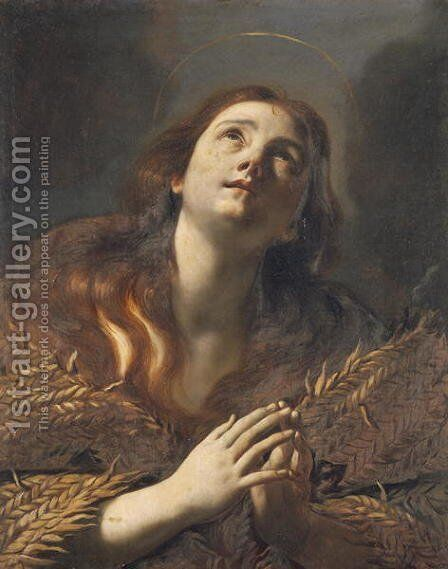 The Penitent Magdalene by Mattia Preti - Reproduction Oil Painting