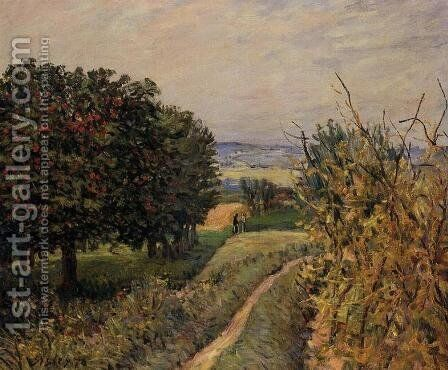 Among the Vines  1874 by Alfred Sisley - Reproduction Oil Painting