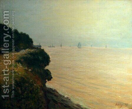 Langland Bay Morning  1897 by Alfred Sisley - Reproduction Oil Painting