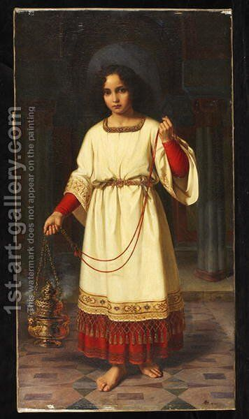 An Altar Boy 1842 by Abraham Solomon - Reproduction Oil Painting