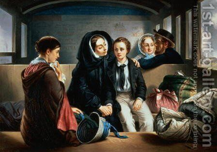 Second Class The Parting 2 by Abraham Solomon - Reproduction Oil Painting