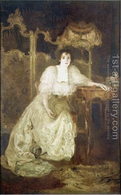 Mrs Patrick Campbell by Simeon Solomon - Reproduction Oil Painting