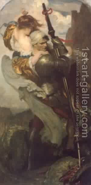 St George by Simeon Solomon - Reproduction Oil Painting