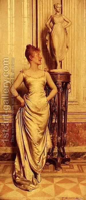 Le Modele by Charles Joseph Frederick Soulacroix - Reproduction Oil Painting
