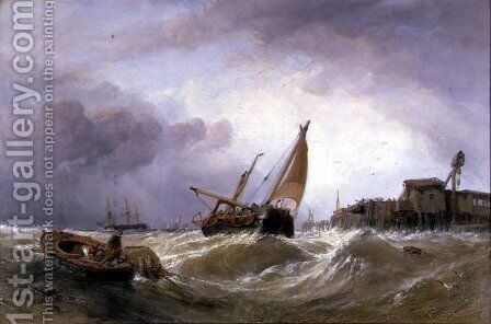 The River Texel by Clarkson Stanfield - Reproduction Oil Painting