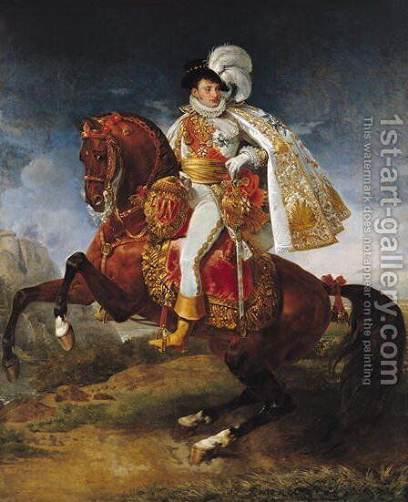 Equestrian Portrait of Jerome Bonaparte by Antoine-Jean Gros - Reproduction Oil Painting