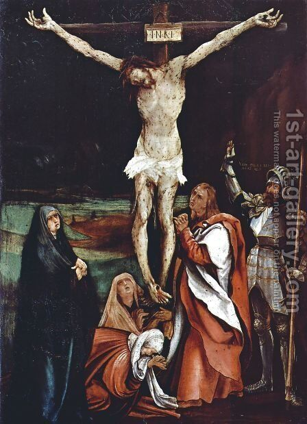 Calvary by Matthias Grunewald (Mathis Gothardt) - Reproduction Oil Painting