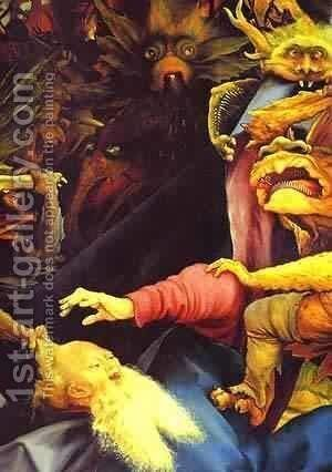 The Temptation Of St Anthony Detail 1 1510-1515 by Matthias Grunewald (Mathis Gothardt) - Reproduction Oil Painting