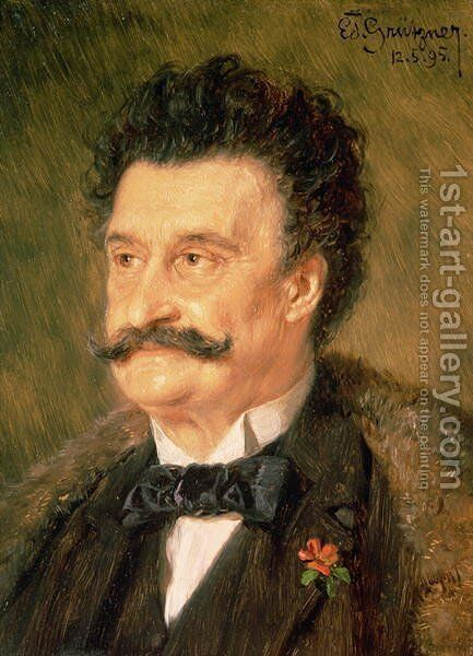 Johann Strauss the Younger 1895 by Eduard Von Grutzner - Reproduction Oil Painting