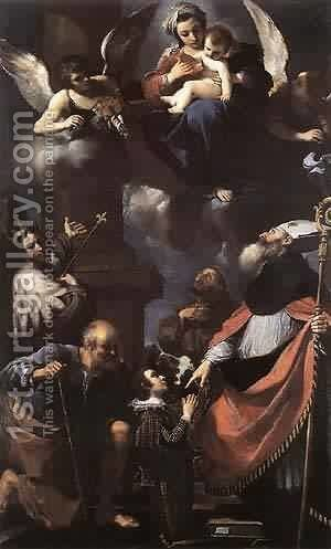 A Donor Oresented To The Virgin 1616 by Guercino - Reproduction Oil Painting