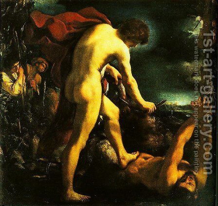 Apollo and Marsyas by Guercino - Reproduction Oil Painting