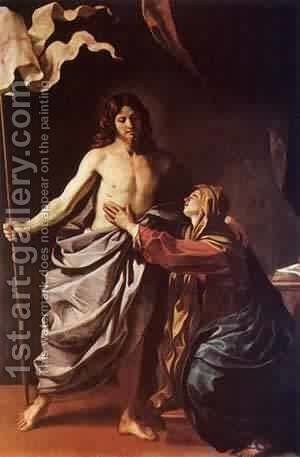 Apparition Of Christ To The Virgin 1628-30 by Guercino - Reproduction Oil Painting