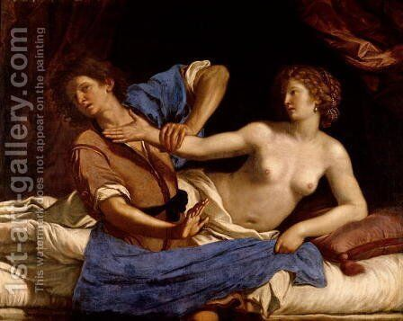 Joseph and the Wife of Potiphar 1649 by Guercino - Reproduction Oil Painting