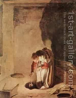 Parable Of The Lost Drachma 1618-22 by Guercino - Reproduction Oil Painting