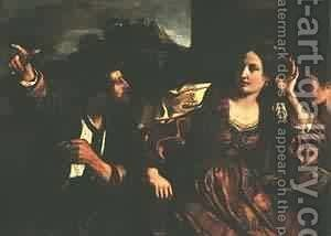 Semiramis Receiving Word Of The Revlt Of Babylon 1624 by Guercino - Reproduction Oil Painting