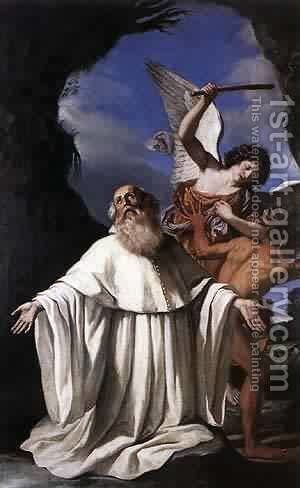 St Romuald 1640-41 by Guercino - Reproduction Oil Painting