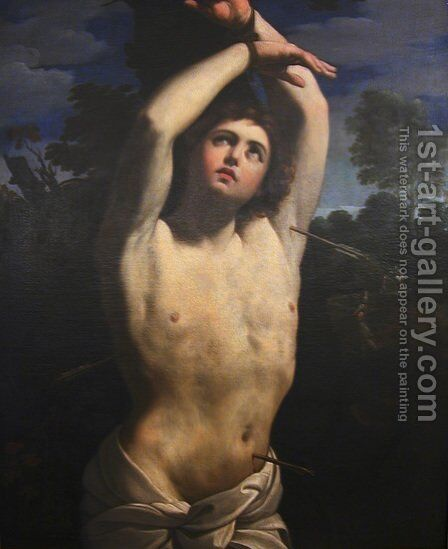 St Sebastian by Guercino - Reproduction Oil Painting