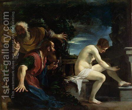 Susanna and the Elders by Guercino - Reproduction Oil Painting