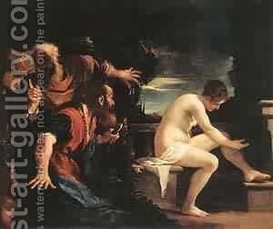 Susanna And The Elders 1617 by Guercino - Reproduction Oil Painting