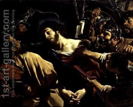 The Betrayal of Christ 1621 by Guercino - Reproduction Oil Painting
