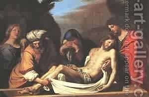 The Entombment Of Christ 1656 by Guercino - Reproduction Oil Painting