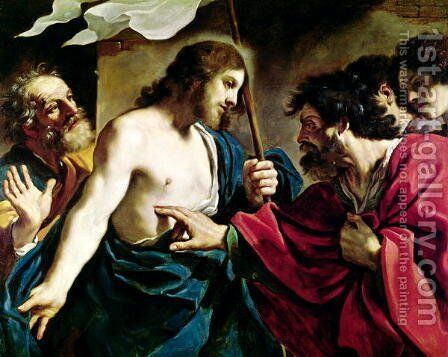 The Incredulity of St Thomas by Guercino - Reproduction Oil Painting