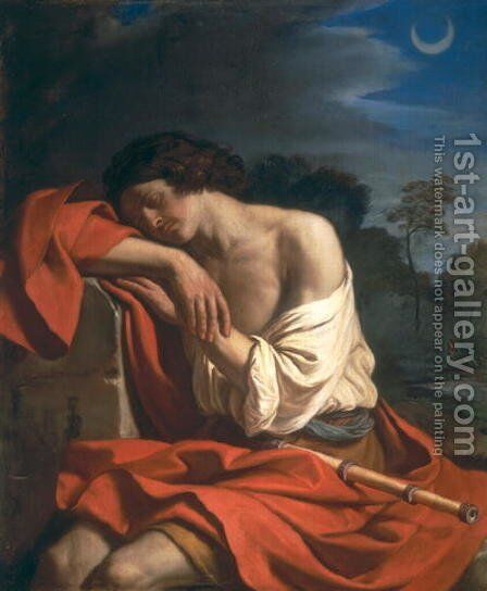 The Sleep of Endymion 1645 by Guercino - Reproduction Oil Painting