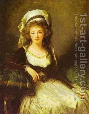 Portrait Of A Lady 1789 by Elisabeth Vigee-Lebrun - Reproduction Oil Painting