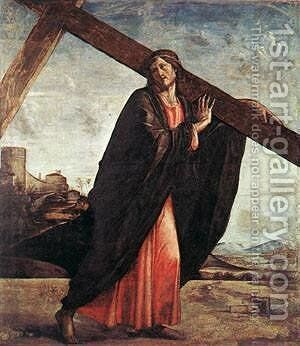 Christ Enthroned Detail 1450 by Bartolomeo Vivarini - Reproduction Oil Painting