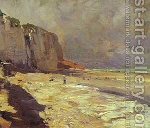 Beach At Dieppe Study 1890s by Bernardo Strozzi - Reproduction Oil Painting